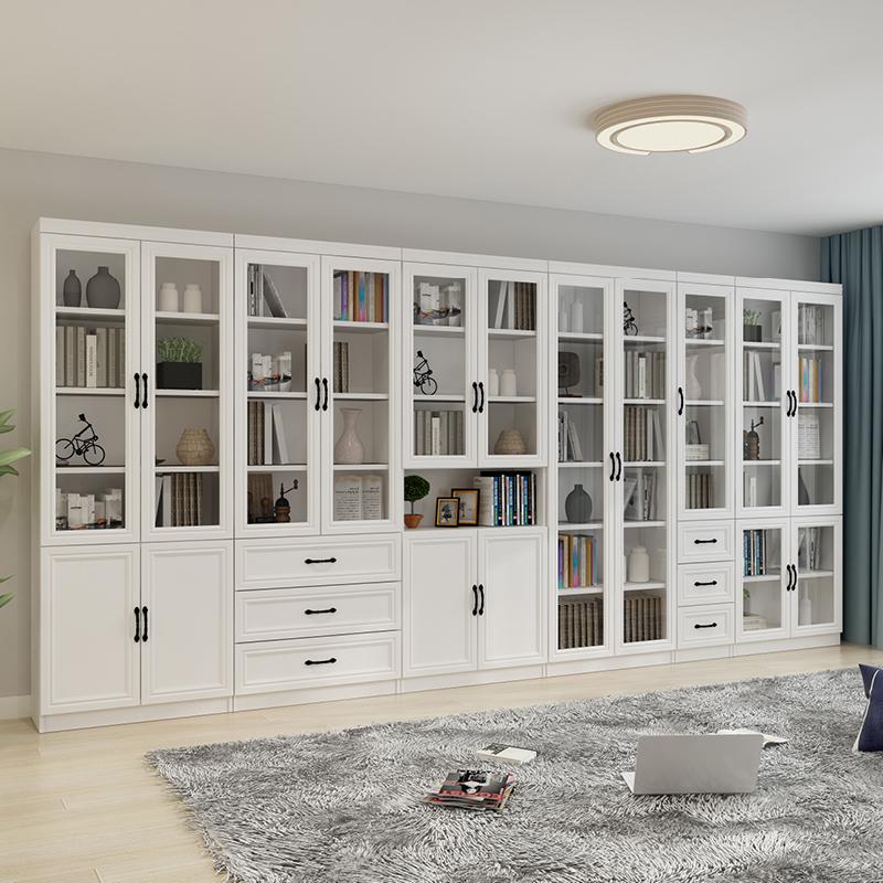 怡非歐式自由組合書櫃書架簡約現代帶門櫃子儲物櫃多功能檔案櫃