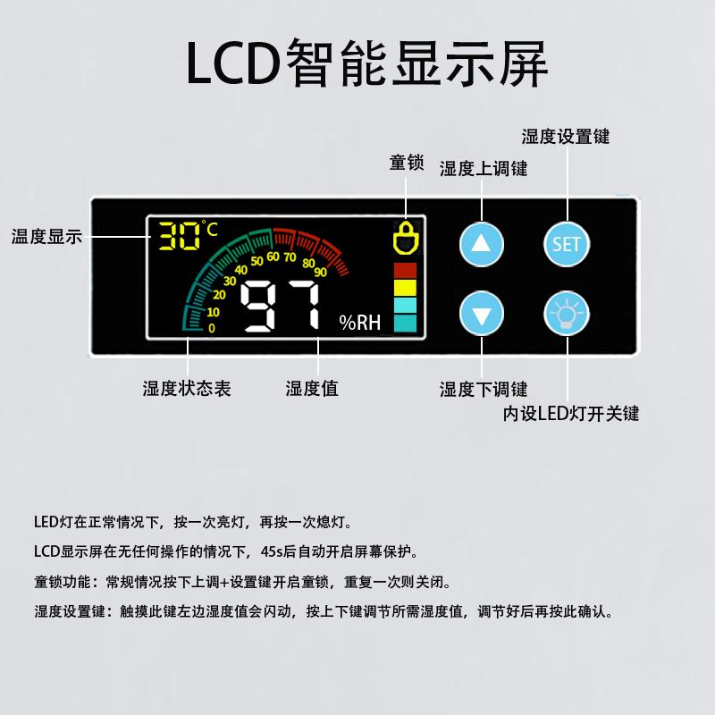 纳博士88/105/125升单反相机电子防潮箱茶叶邮票镜头画册干燥柜