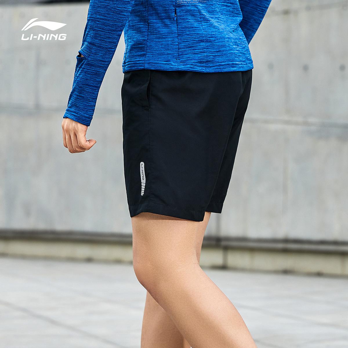 李宁短裤男运动裤子夏季新款速干五分裤宽松休闲健身跑步运动短裤