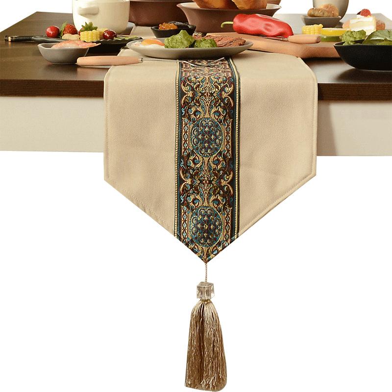 新中式禅意桌旗现代简约茶几茶席餐桌布鞋柜电视柜盖巾床旗床尾巾