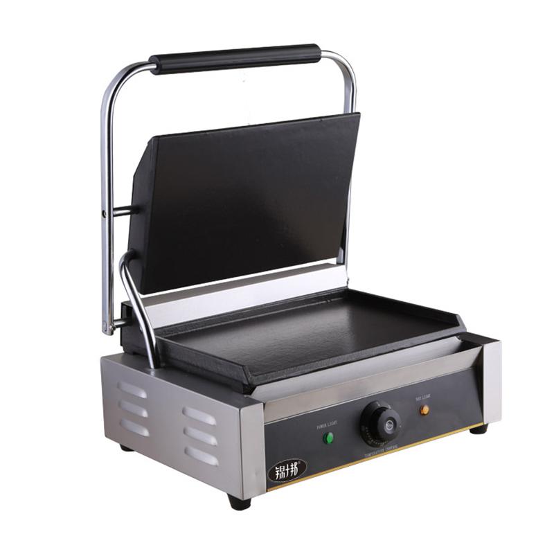 锦十邦商用电热单压板扒炉帕尼尼机上下全平三明治机意式三文治机