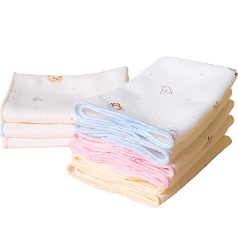 婴儿洗脸巾纯棉小方巾初生宝宝口水巾新生儿手帕超柔小手绢擦奶巾