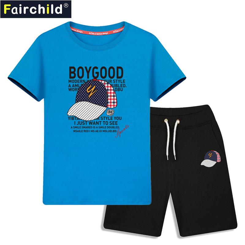 男童夏装套装2019潮夏季10童装11短袖12儿童13岁15中大童男装男孩