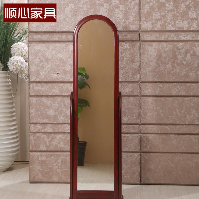 顺心家具中式实木穿衣镜寝室长镜子全身镜女落地镜试衣镜卧室家用