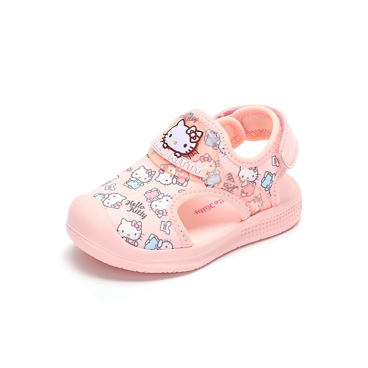 HelloKitty童鞋女童包头运动凉鞋夏季新款儿童宝宝沙滩鞋
