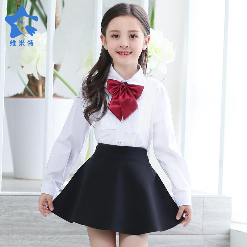 男童长袖白衬衫纯黑色西装长裤套装藏青儿童装衬衣礼服孩表演出服