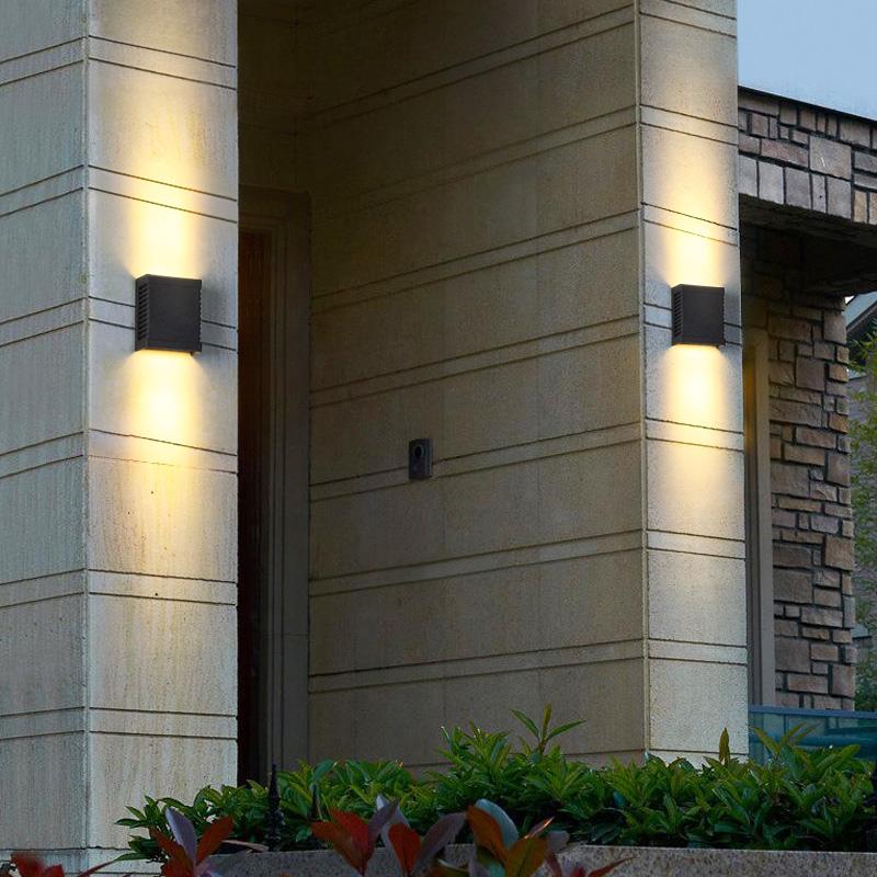立柱壁灯小区别墅大门柱子灯工程亮化防水壁灯 led 户外柱子壁灯