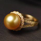 Taobao pearl anchor live one on one with you to the studio to see the goods selected goods seawater pearls 18k gold custom