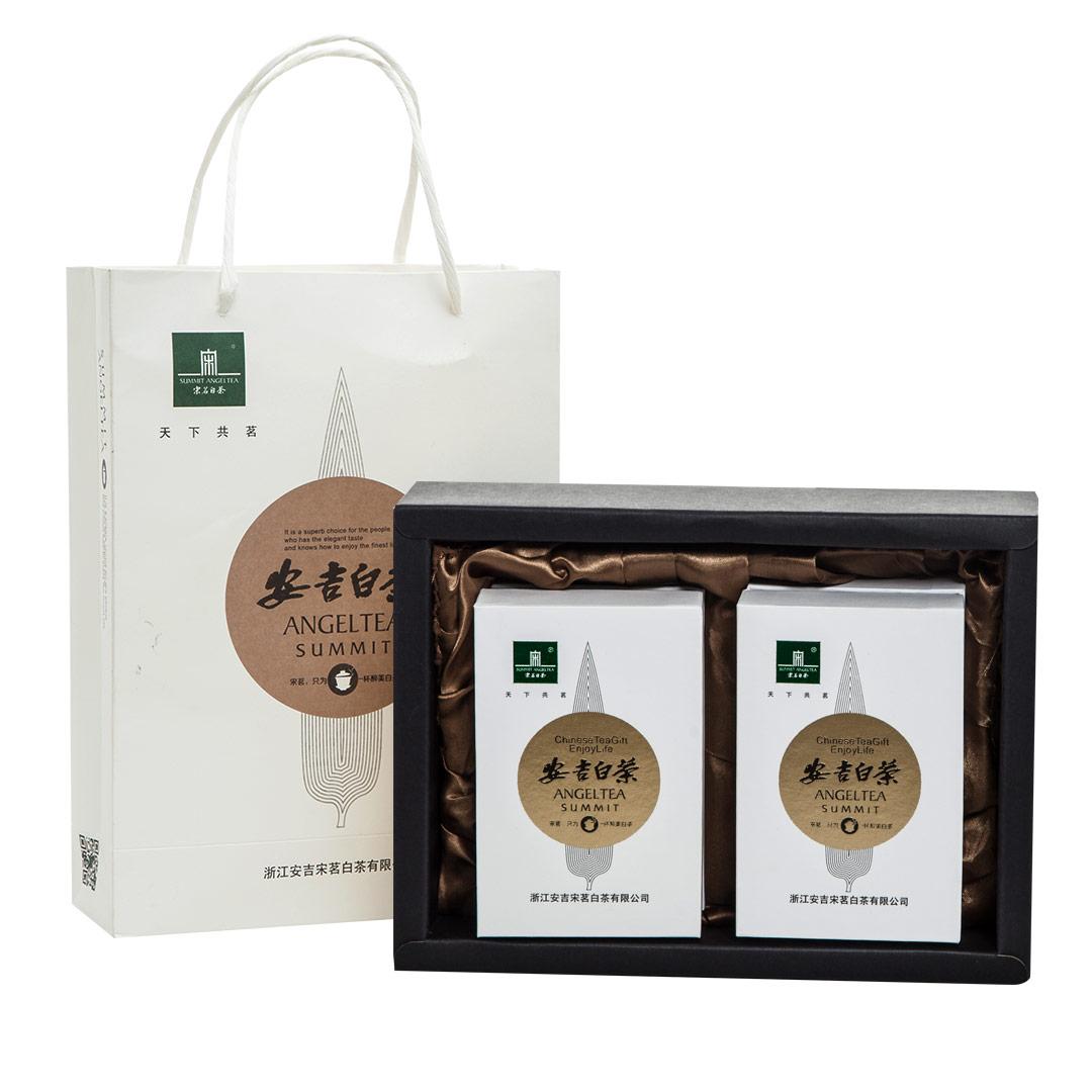 盒送礼白茶 2 50g 宋茗安吉白茶明前一级珍稀绿茶礼盒装