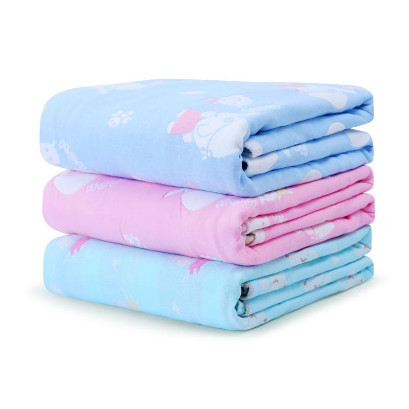 婴儿浴巾纯棉纱布幼儿童宝宝初生超柔吸水洗澡卡通毛巾被子新生