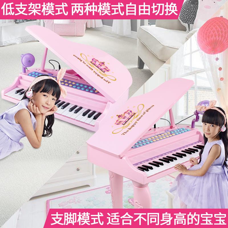 儿童电子琴女孩钢琴初学3-6-12岁 可弹奏大号琴宝宝琴键音乐玩具