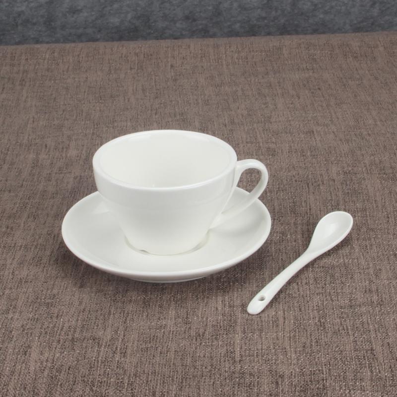 纯白简约陶瓷咖啡杯美式浓缩杯意式拉花杯欧式茶杯拿铁卡布奇诺杯