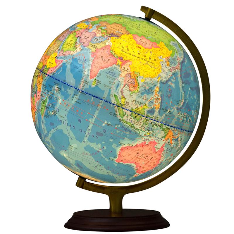 博通 带灯地球仪 学生用32cm高清教学大号办公室客厅书房摆件学习 发光地球仪 学生地球仪 地球仪摆件 2019年