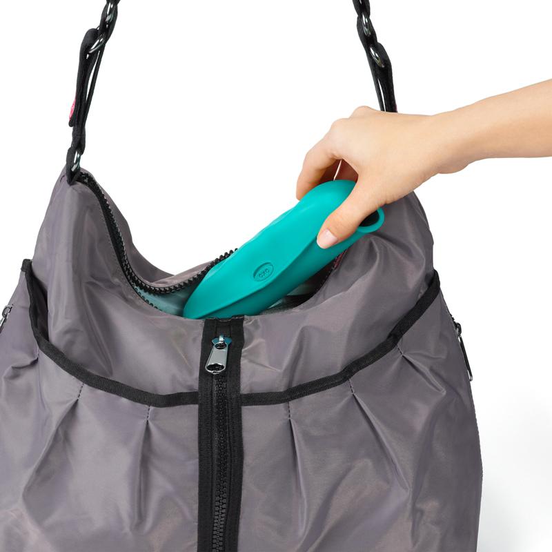 OXO奥秀围嘴婴儿宝宝硅胶围兜儿童折叠便携吃饭口水兜防水幼儿园
