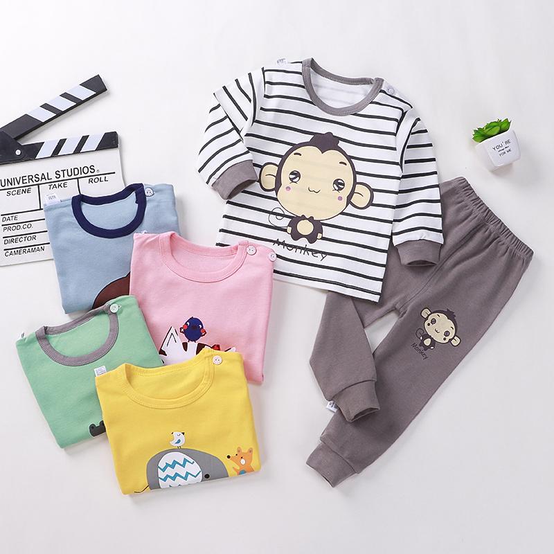 儿童纯棉内衣套装6婴儿秋衣秋裤1宝宝保暖内衣4男女童装睡衣服3岁