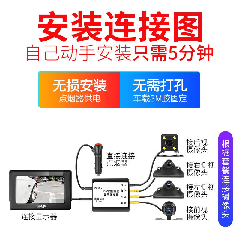 星光夜视摄像头汽车盲区辅助系统前左右侧盲区摄像头无线监控夜视