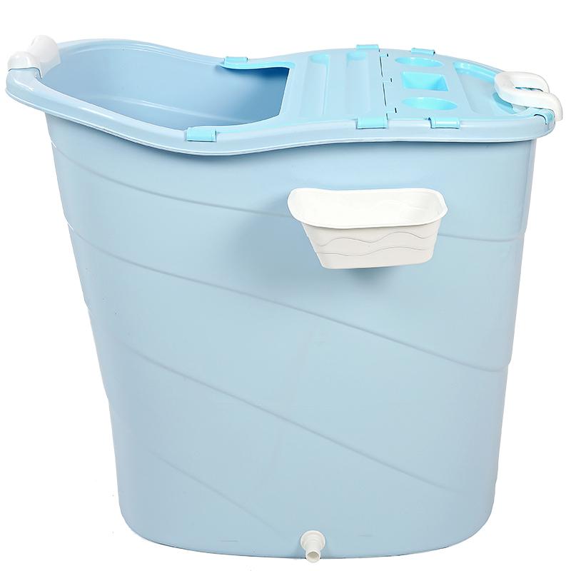 大人洗澡桶全身成人加高泡澡桶家用厚塑料椭圆儿童沐浴桶婴儿游泳