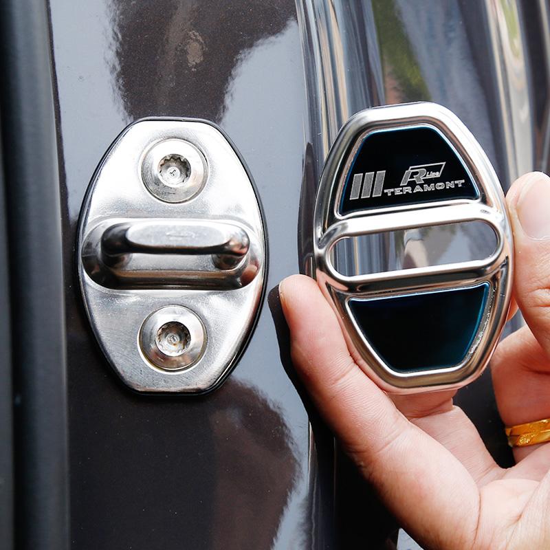 17-19款大众途昂X门锁扣盖限位器车门锁保护盖途昂改装专用配件