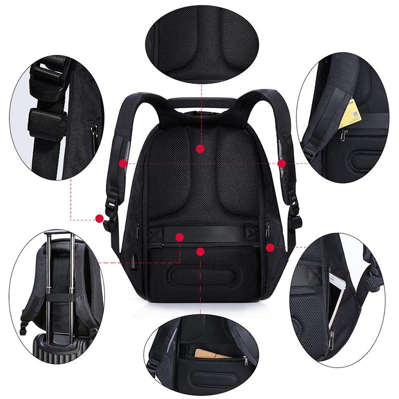 蒙马特充电防盗背包15寸男女14商务笔记本电脑包双肩包15.6/17寸