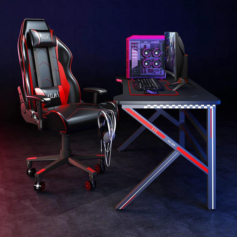 电竞桌台式电脑桌家用简易书桌办公桌游戏电竞桌椅组合套装桌子