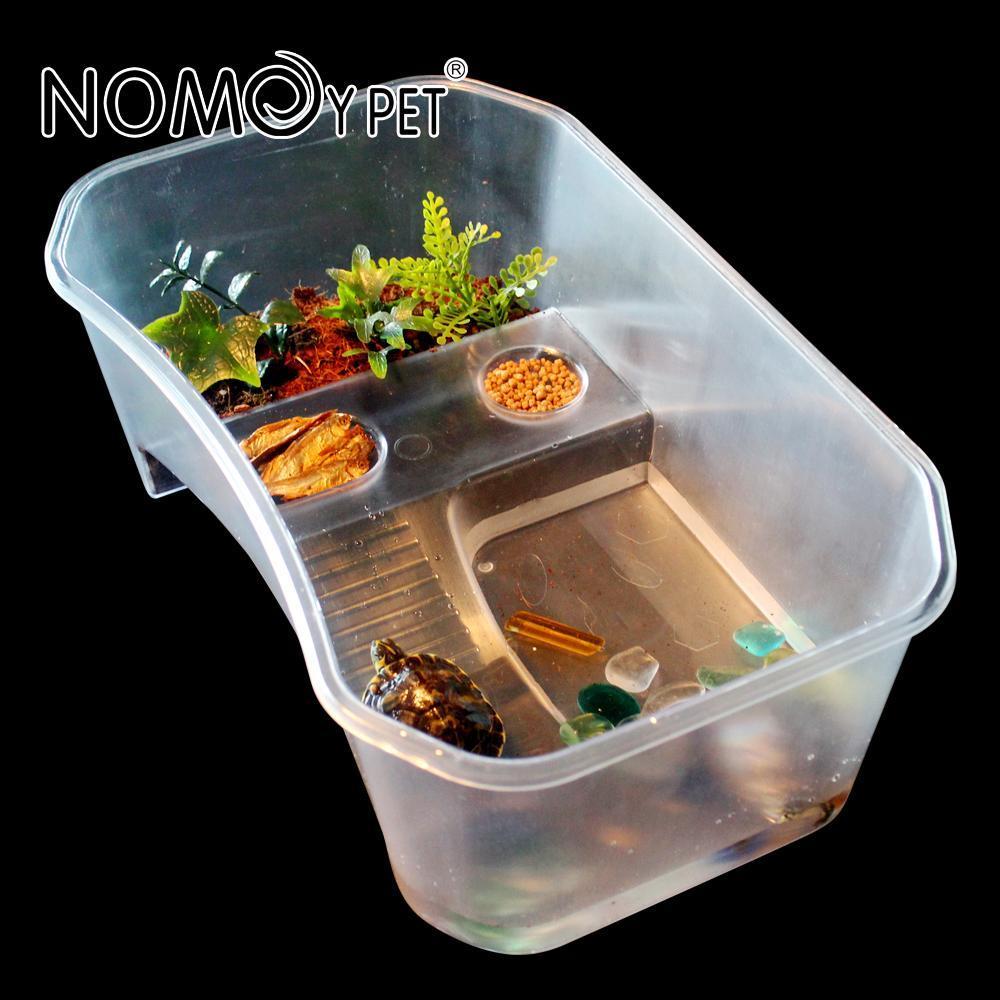 NOMO带晒台乌龟缸鱼缸大号大型塑料巴西龟水龟草龟鳄龟甲鱼龟盆