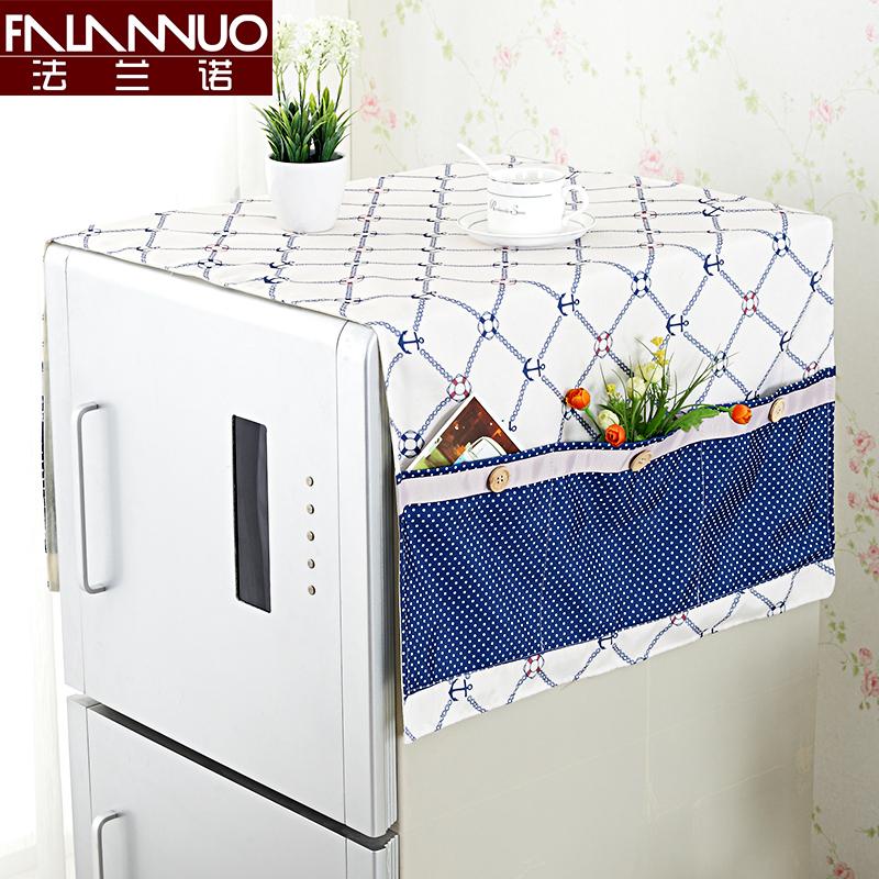 冰箱罩防尘罩巾单开门冰箱布盖巾田园棉麻盖布防尘布布艺对双开门