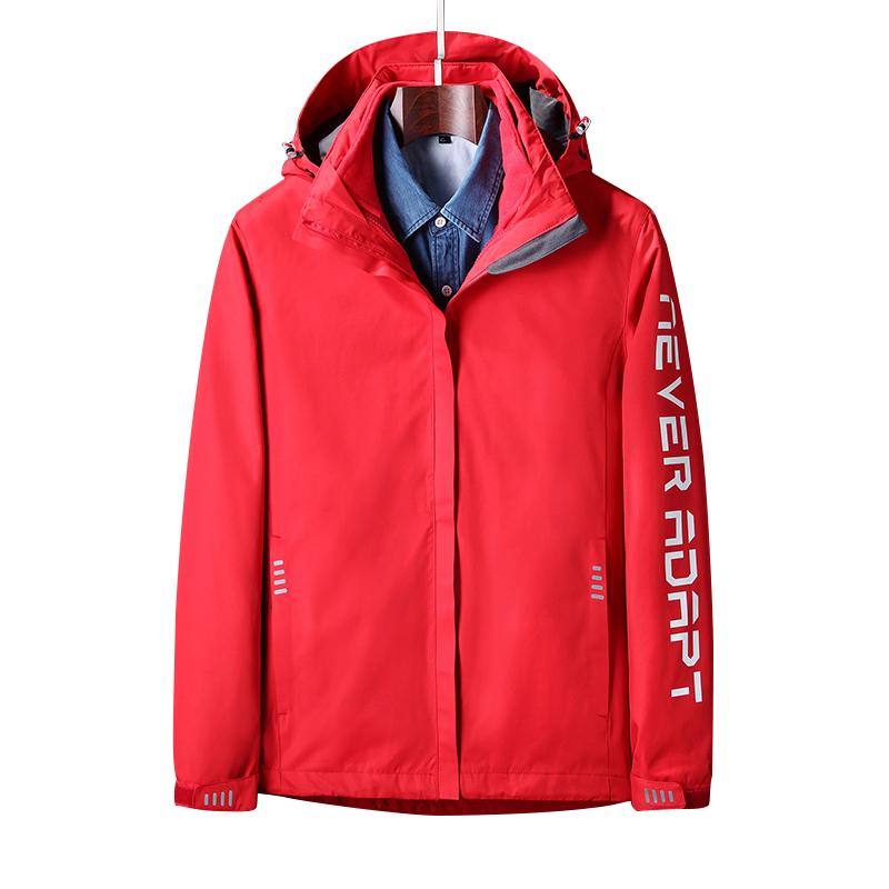 冬季户外冲锋衣女三合一潮牌两件套加绒加厚防风防水登山服外套男