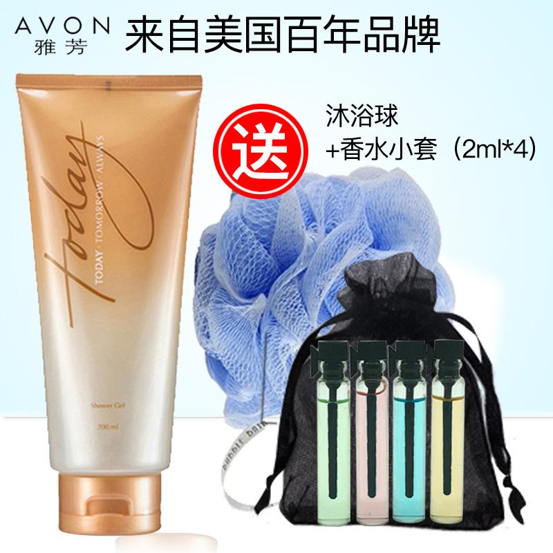 AVON/雅芳今日香水沐浴露200ml保溼滋潤清爽 送香水+沐浴球