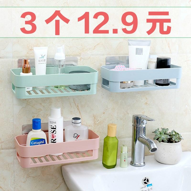 浴室置物架免打孔衛生間吸盤壁掛三角架廚房儲物架貼上洗澡間收納