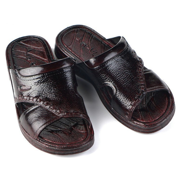 男士拖鞋復古臺灣中年爸爸老式浴室厚底夏季防滑洗澡塑膠一字涼拖