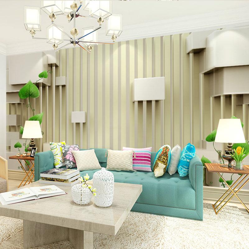 墙纸无纺布 3d 立体凹凸壁画现代简约欧式电视背景墙壁纸客厅无缝 5D