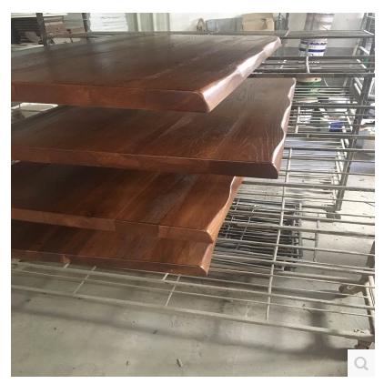 实木大板办公会议桌面老榆木松木现货铁艺复古餐桌原木大班台定制