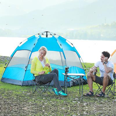 探险者全自动帐篷户外3-4人二室一厅加厚防雨5-8人2人野外露营
