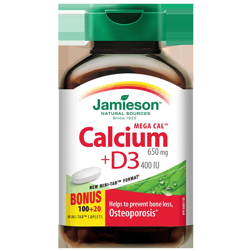 值哭 加拿大 11倍强效吸收 5重钙源协同:120片x2瓶 健美生 维生素D3钙片