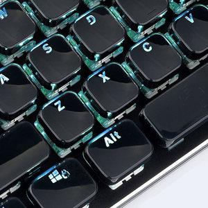 E元素104键圆形蒸汽朋克 巧克力水晶键帽 个性透光机械键盘键帽