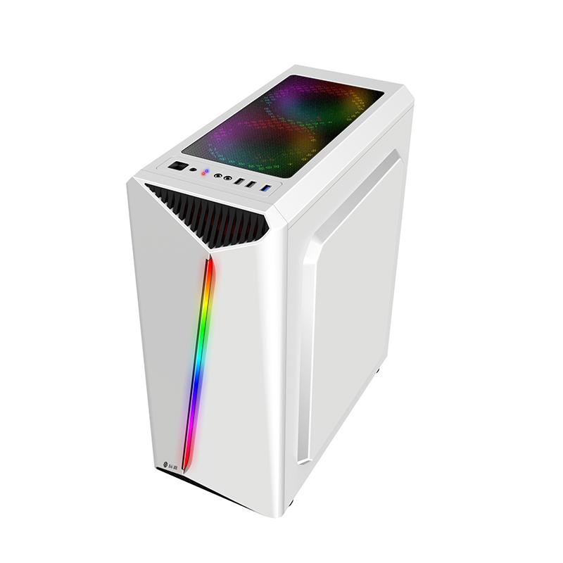 酷睿i5i7八核高配组装台式电脑主机 24英寸曲面显示器吃鸡DNF搬砖LOL主播办公家用设计游戏独显DIY兼容全整套