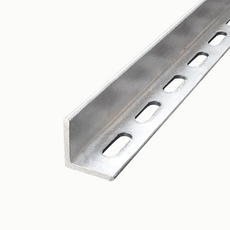 颂余角钢热镀锌双孔单冲孔万能角铁支架货物厂房50mm5号花边支架