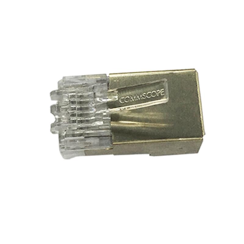 康普AMP安普超五类屏蔽网线水晶头RJ45连接头 1个6-569530-2 1包6-569530-3