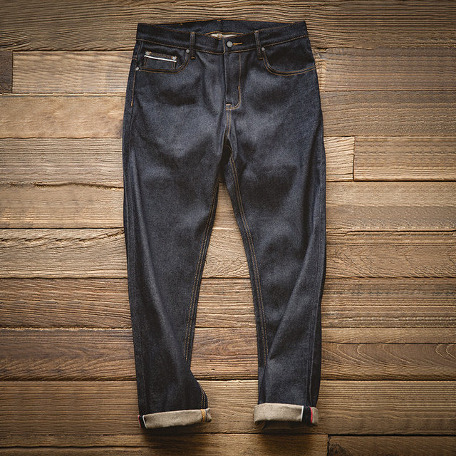 Madden tooling retro puree red ear denim original cow jeans straight Ami khaki heavy original dark pants men