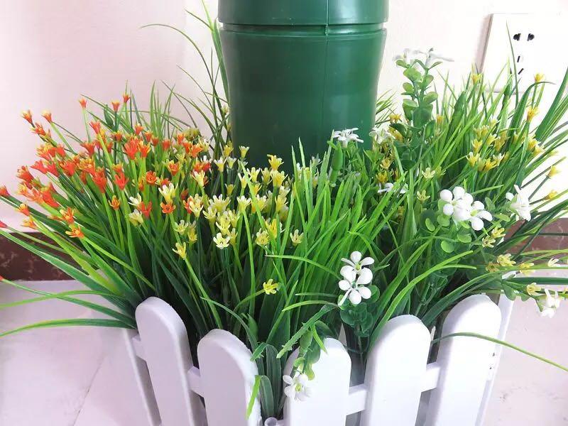 仿真花假花植物墙装饰波斯草工程酒店客厅商场盆景装饰塑料小把花