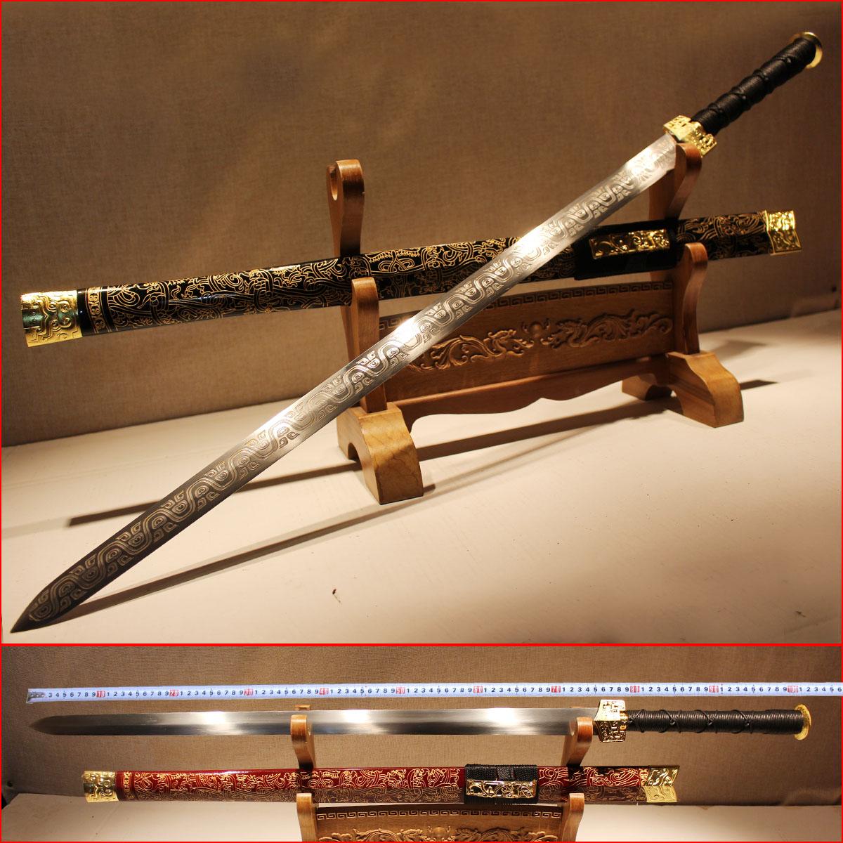 正品宝剑辟邪龙泉剑镇宅装饰长款刀剑锰钢汉剑古剑唐剑兵器未开刃