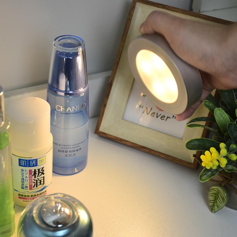 灯小夜灯展柜衣柜灯装饰拍拍灯射灯喂奶灯免接线 LED 创意床头夜灯