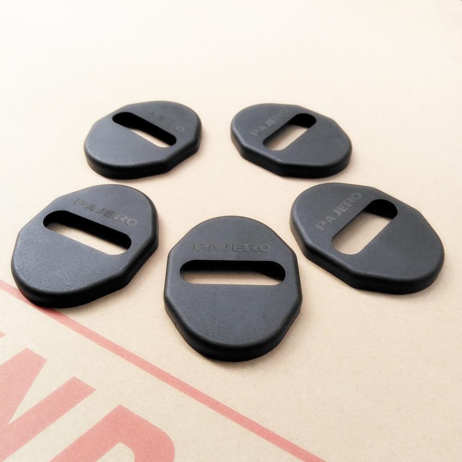 汽车门锁盖三菱帕杰罗专用V73劲畅帕杰罗门锁扣V75改装V93带标V97