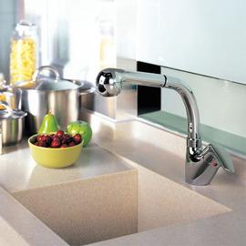 摩恩抽取式厨房冷热水龙头7727原装抽拉软管花洒喷头阀芯维修配件