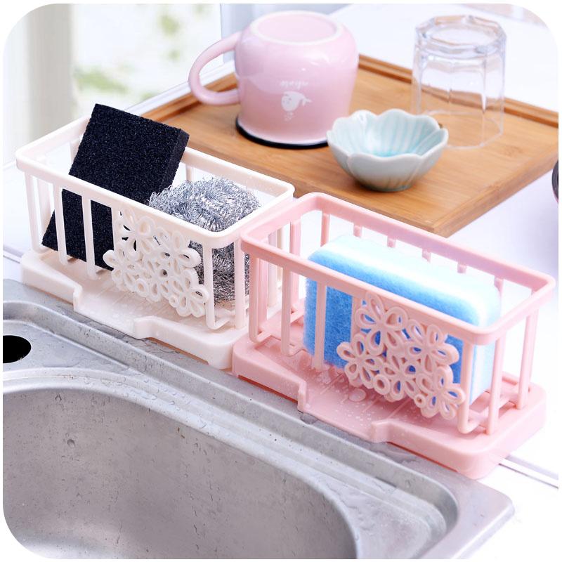 抹布收纳篮 水池置物架水龙头海绵沥水收纳架 厨房水槽塑料沥水篮