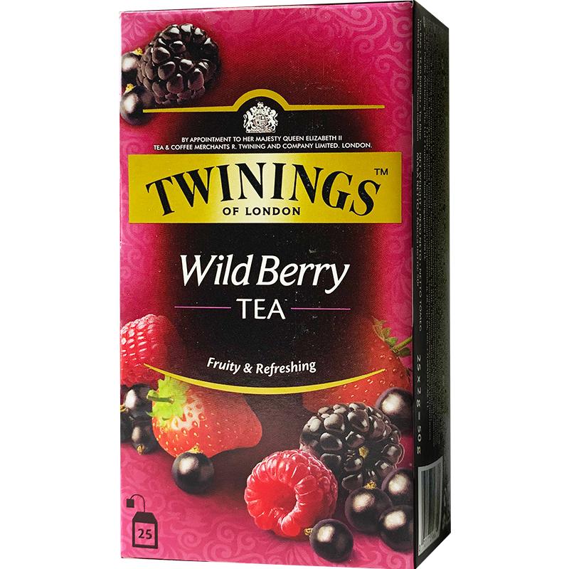 片装袋泡茶红茶 25 果茶综合野莓果香红茶 Twinings 英国进口川宁红茶
