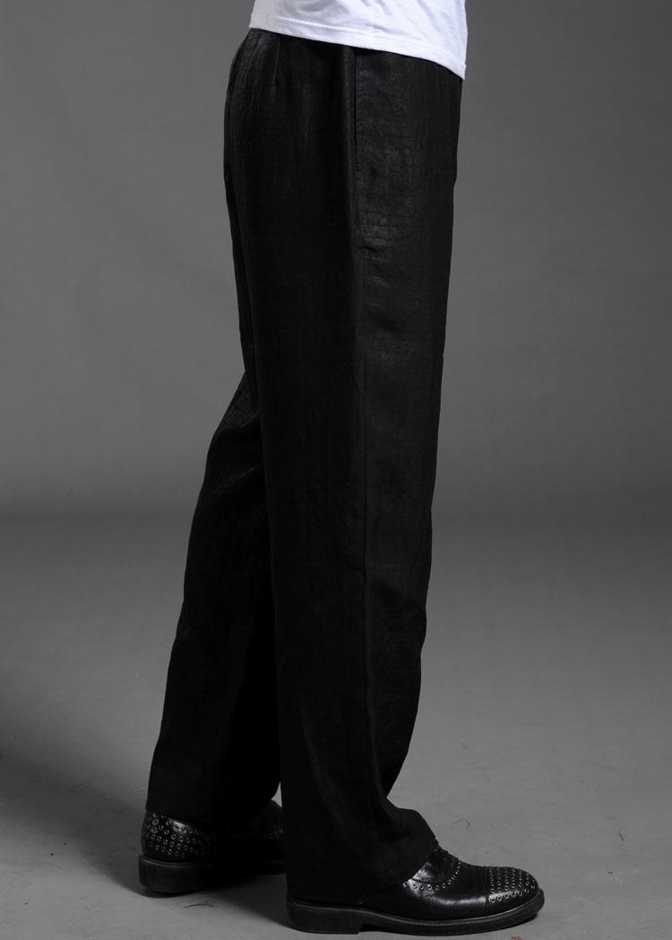 新品 唐装 男 新款专柜正品100%香云纱男式夏装 男装夏季男裤 X02