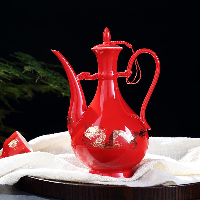 景德镇酒具套装陶瓷酒壶清酒黄酒白酒杯子仿古中式家用创意分酒器