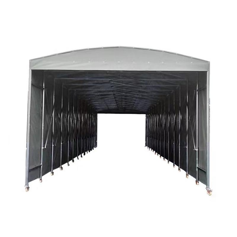 移动推拉棚伸缩雨篷移动推拉篷大排档蓬遮阳棚收缩棚车棚推拉蓬