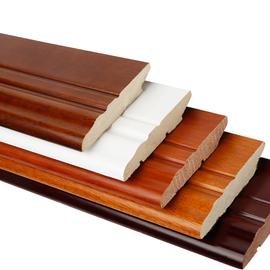 纯实木踢脚线墙贴白色烤漆贴脚地脚线瓷砖平板简约灰色北欧t脚线